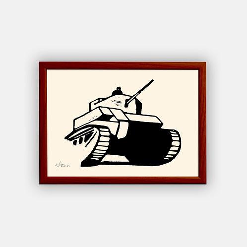Gravure   Char 1945   Classique   21 x 29,7 cm