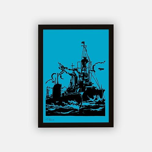 Gravure | La Flotte Française 1925 | 21 x 29,7 cm