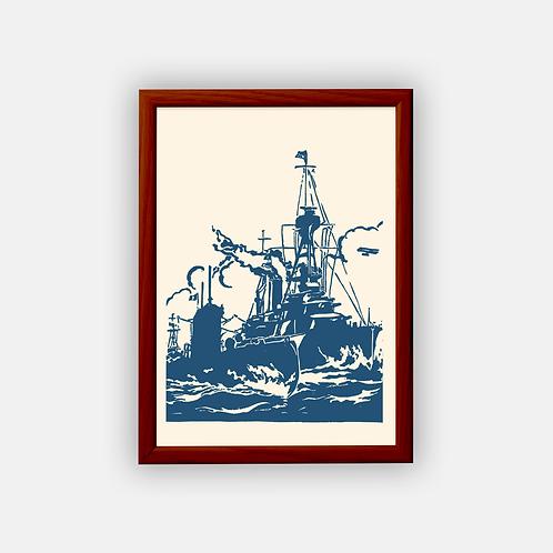 Gravure | La Flotte Française 1925 | Classique | 21 x 29,7 cm