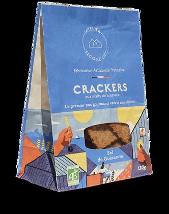 Sachet Crackers aux malts de brasserie Sel de guérande Atelier Second Life