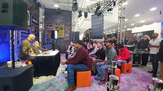 Margouleff public speaking at NAMM