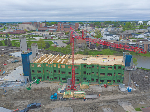 Wood-frame construction – U.S. contractors reap benefits with Potain self-erecting cranes