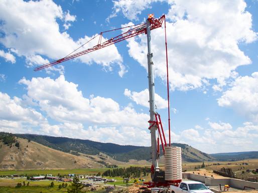 Contratistas de los EE.UU. obtienen excelentes beneficios con las grúas torre automontables Potain