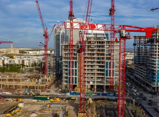 Potain Flotte unterstützt den Bau eines großen Projektes in Tampa