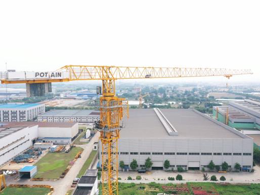 La fabricación esbelta está transformando la producción de grúas Potain en China