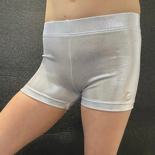 Silver White Mystique Shorts