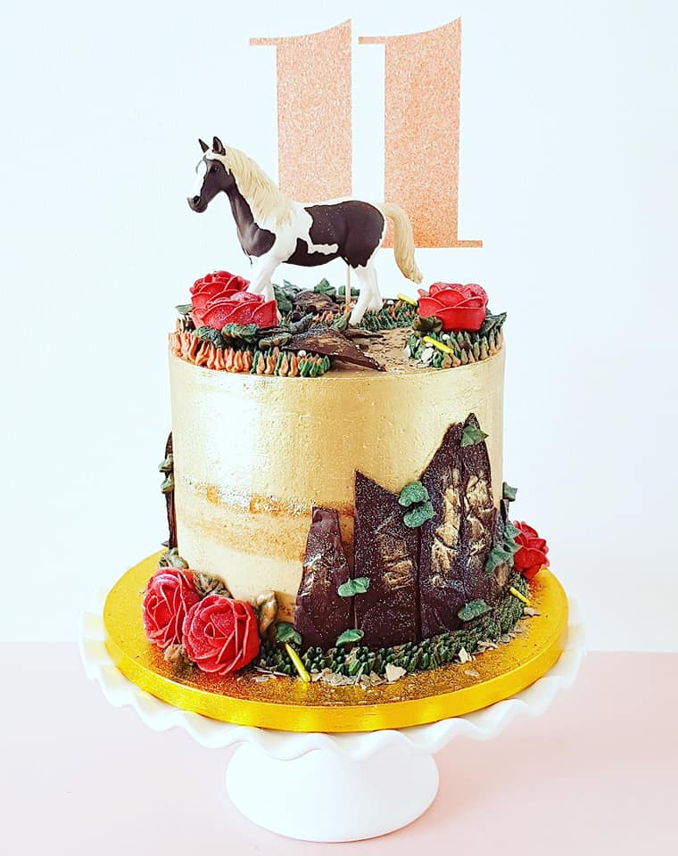 Rustic Horse Themed Cake