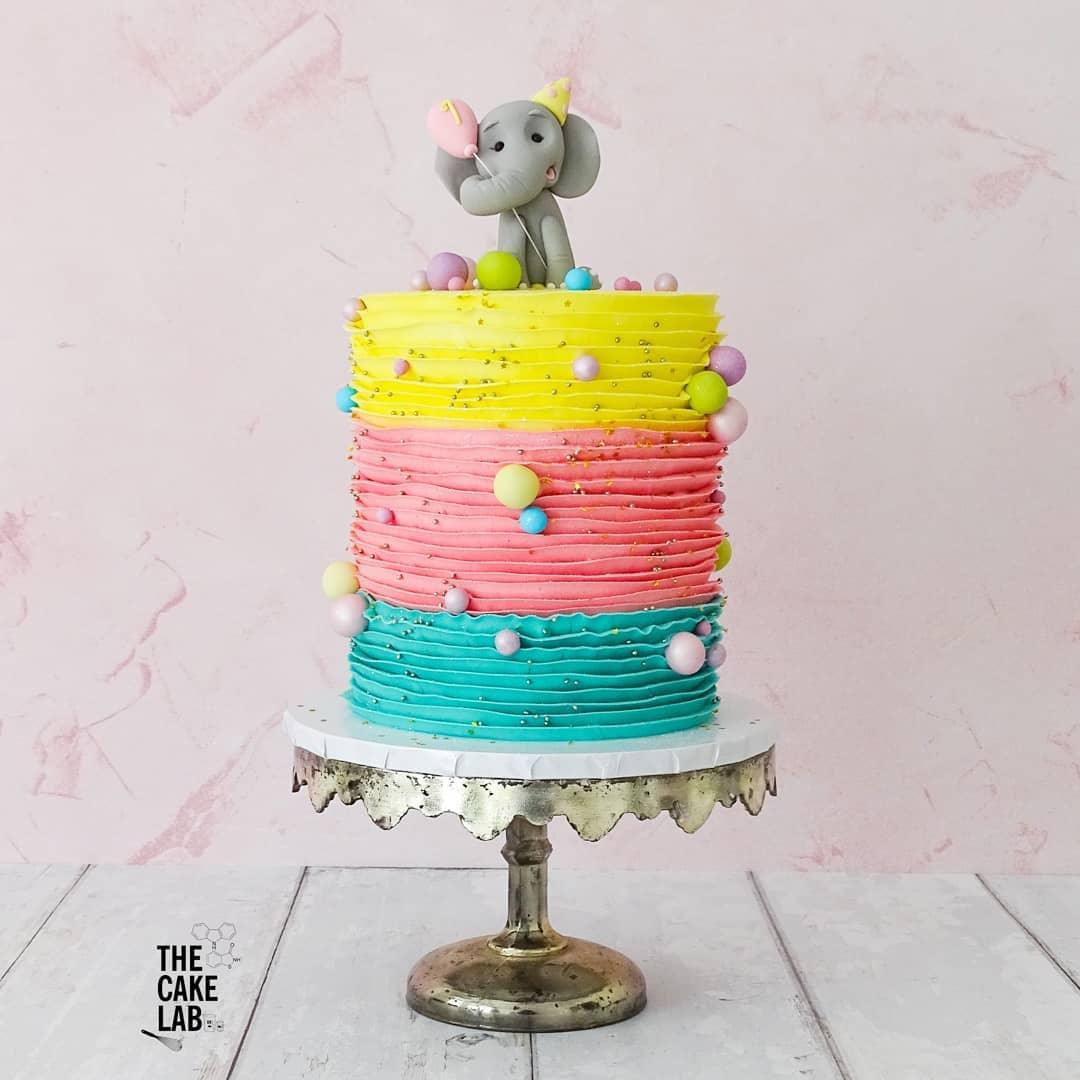 Elephant and Ruffles cake