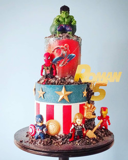 Superhero 2 Tier Cake