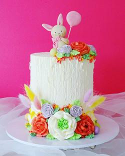 Buttercream Bunny Cake