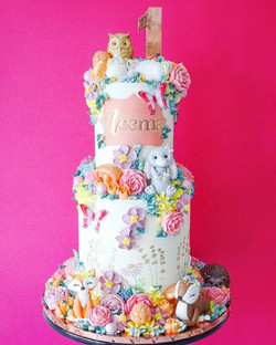 Magical Woodland Animal themed cake