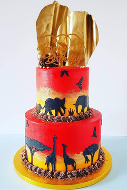 60th Birthday Safari Themed Cake