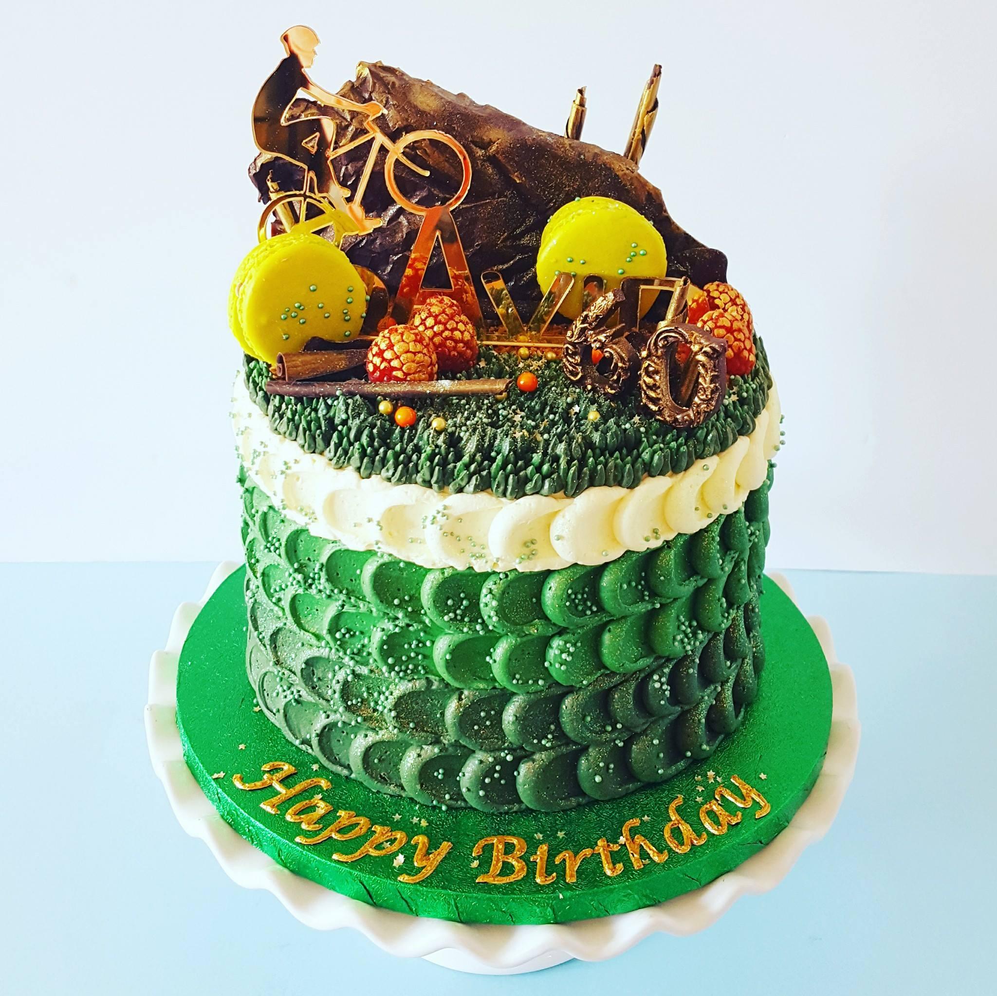 60th Birthday Mountain Bike Cake