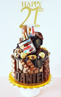 2 Tier Nutella Themed Cake