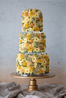 Spring Buttercream Floral cake