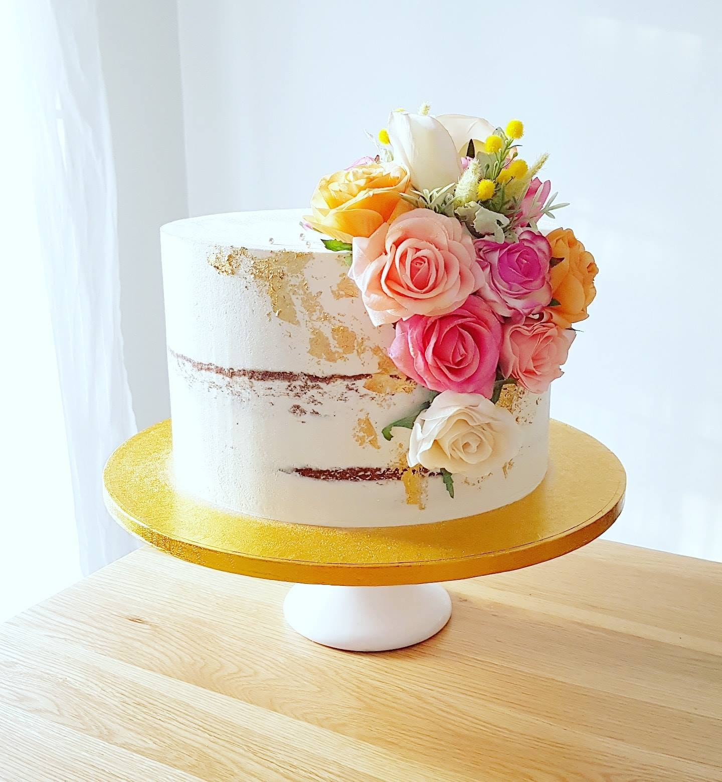 Semi-Naked Engagement Cake