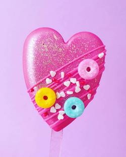 Donut Heart Cakesicles