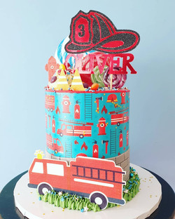 Fireman themed cake