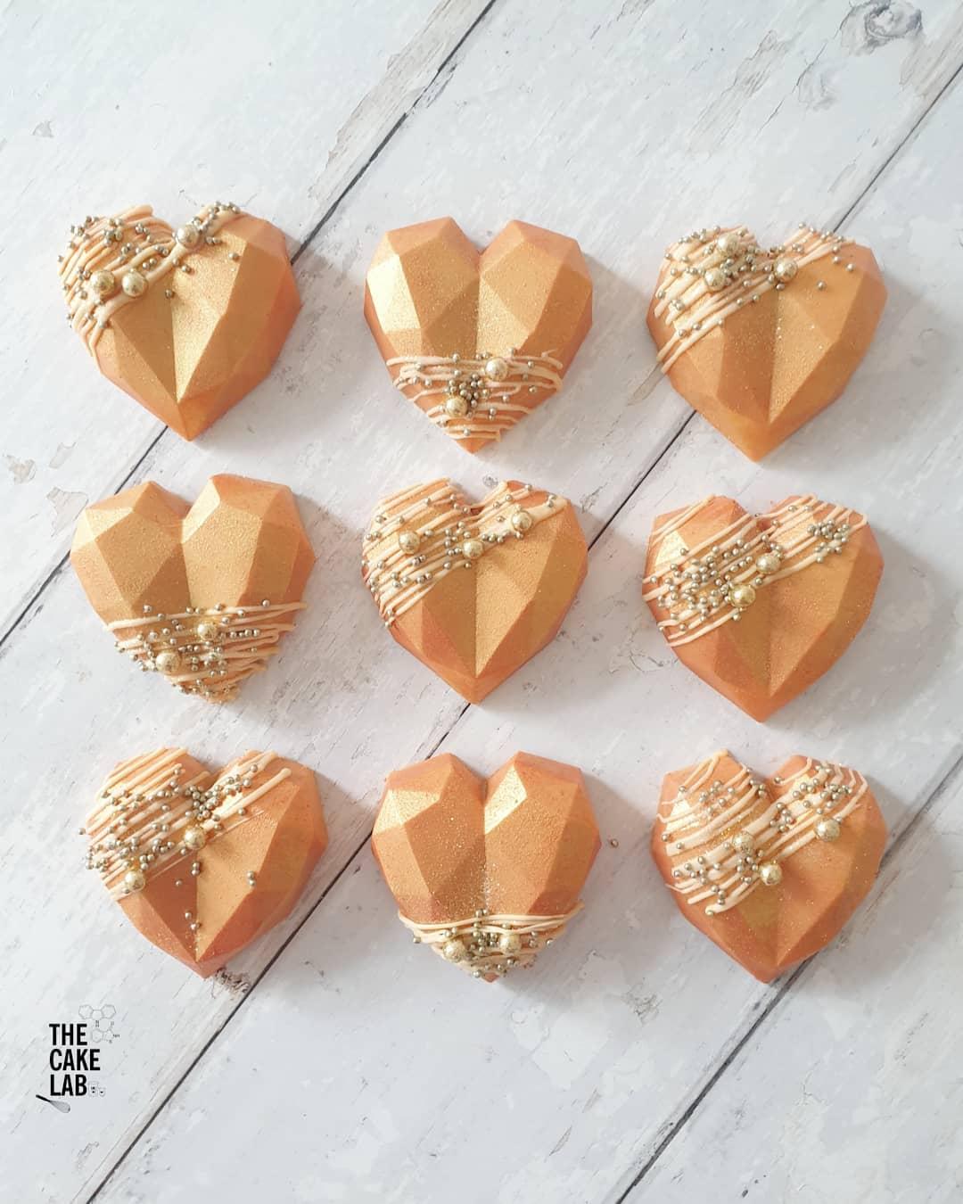 Peach and Gold Cake Gems