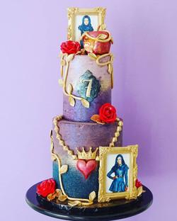 Descendants themed cake