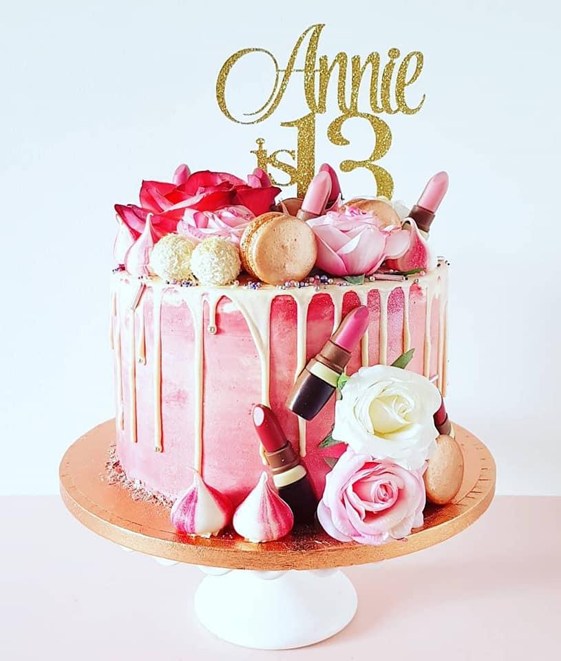 Girly Make-up Cake