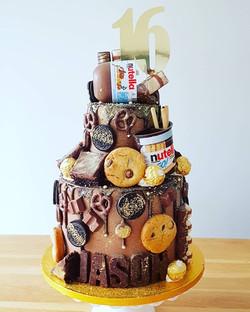 Nutella, Brownie, Cookie cake
