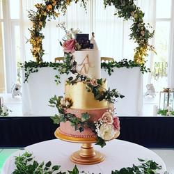 Dusky Pink Floral Cake