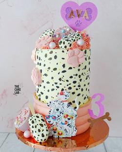 Dalmatian themed cake