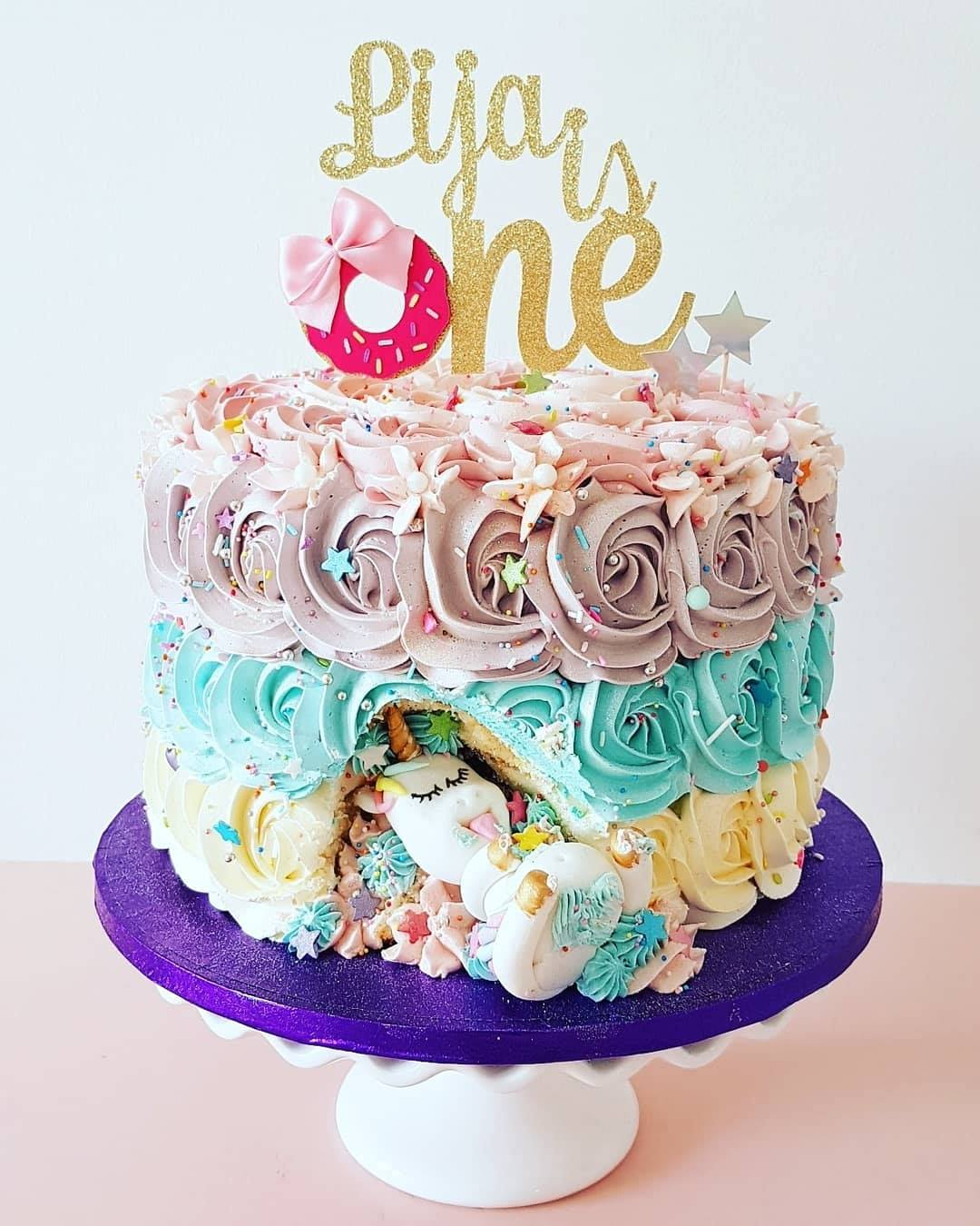 Greedy Unicorn Cake