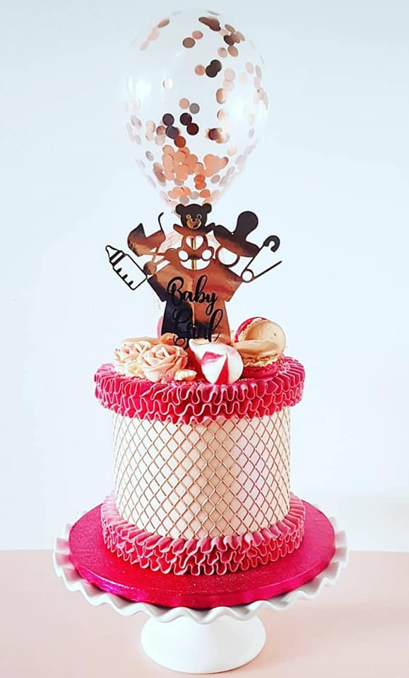 Pink and Rose Gold Cake