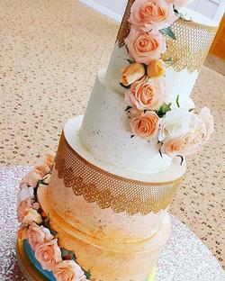 4 Tier Ombre Watercolour Cake