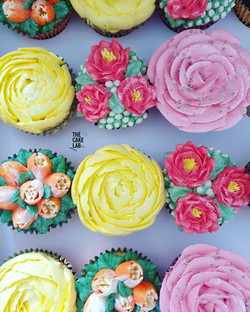 Large Flower Cupcakes
