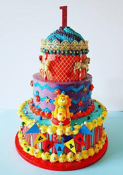 Carousel Carnival Cake