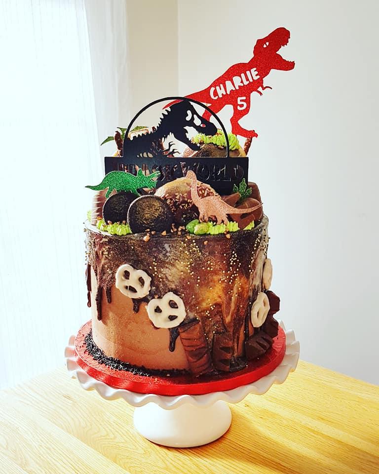 Mud Dinosaur Cake