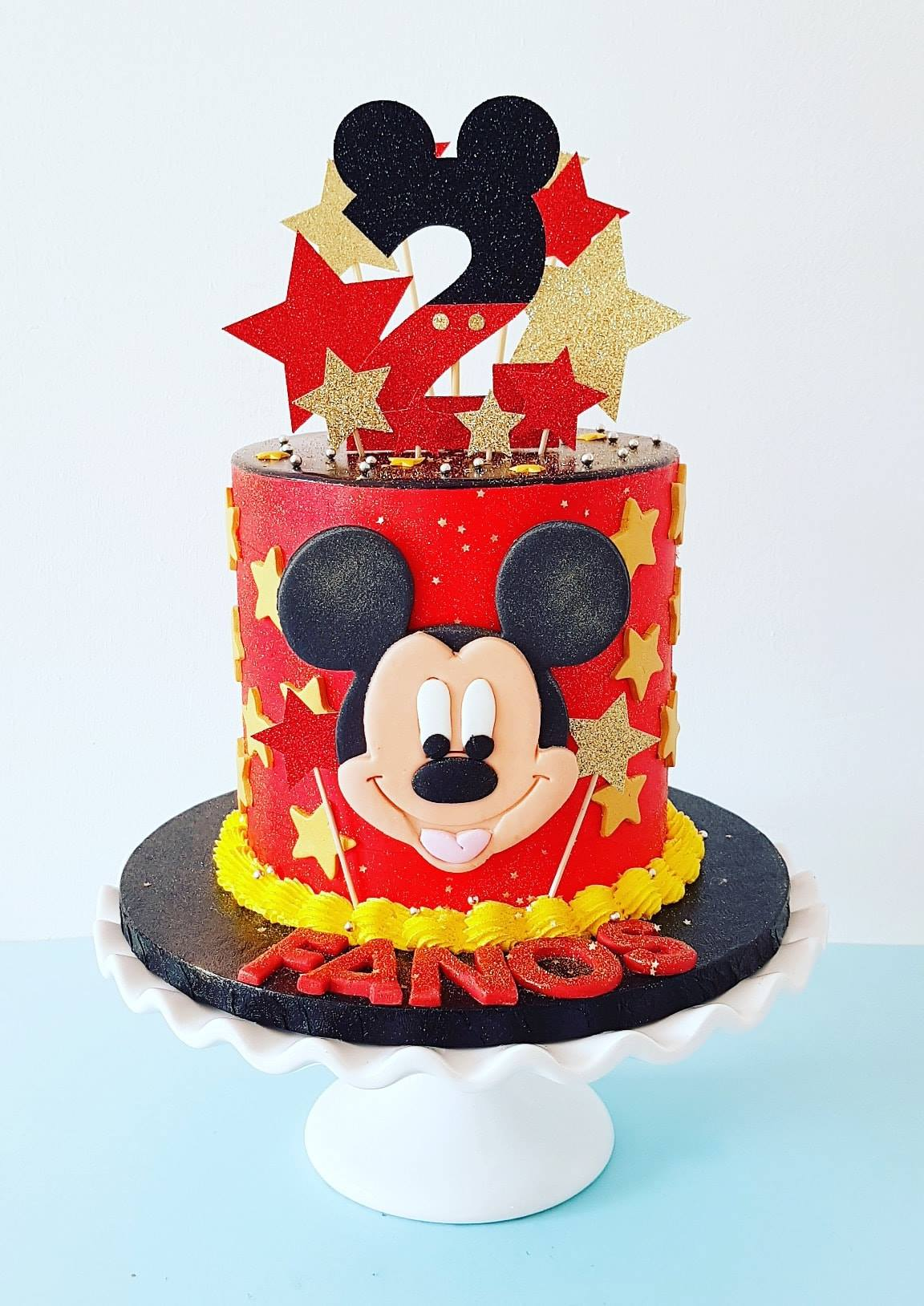2nd Birthday Mickey Mouse Cake