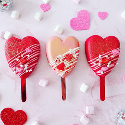 Heart Cakesicles