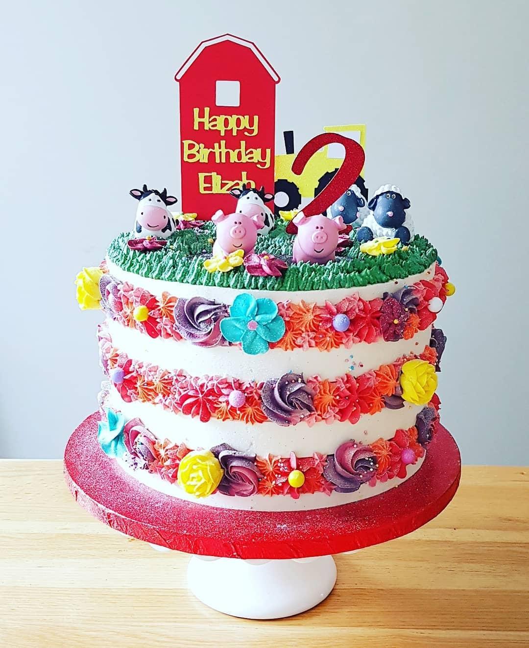 Farm Animal themed cake