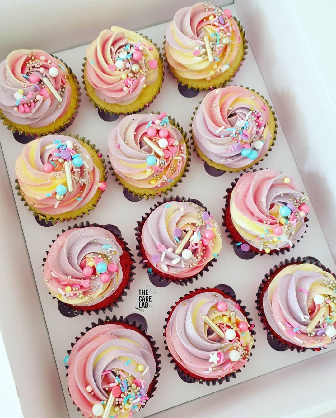 Rainbow Pastel Cupcakes