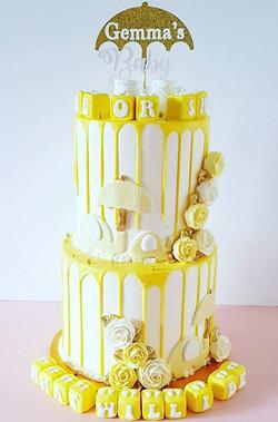 Yellow Elephants Drip Cake