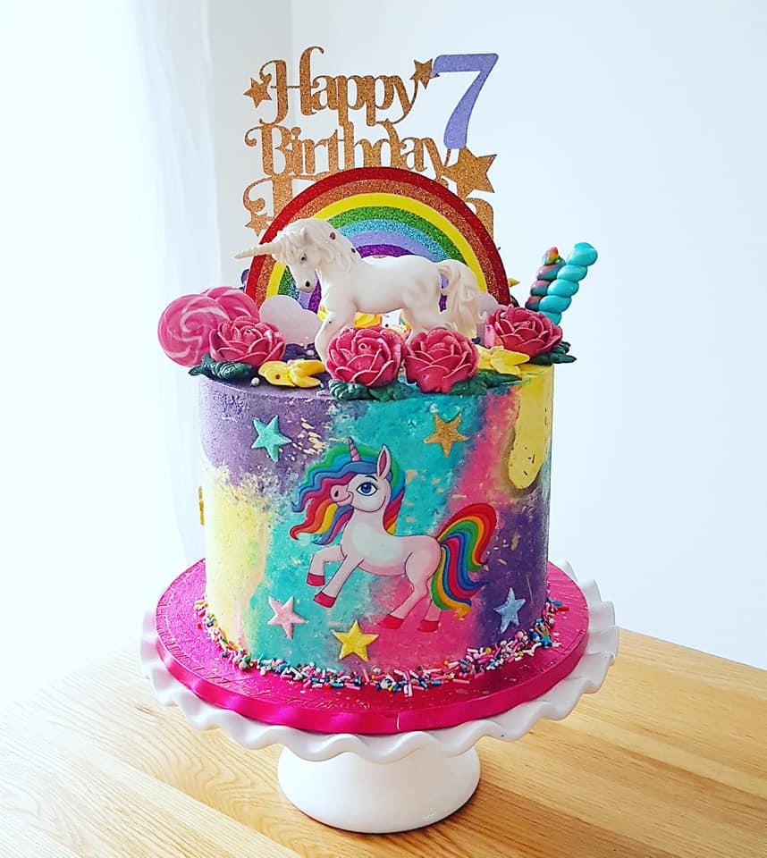 Rainbow Unicorn Cake 2