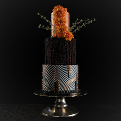 Abstract Bronze Cake