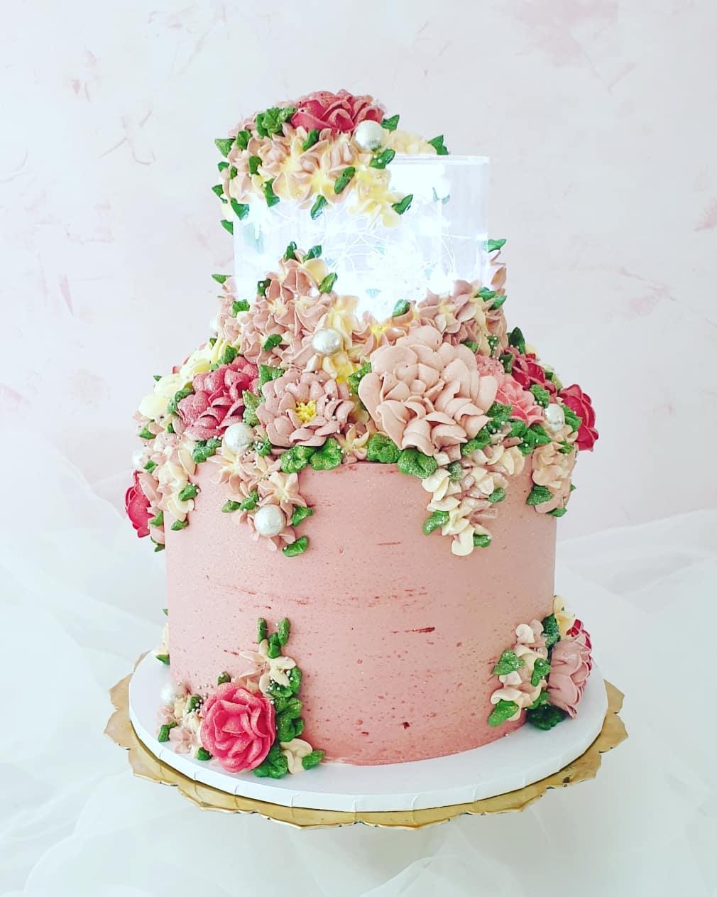 Acrylic Tier Wedding Cake