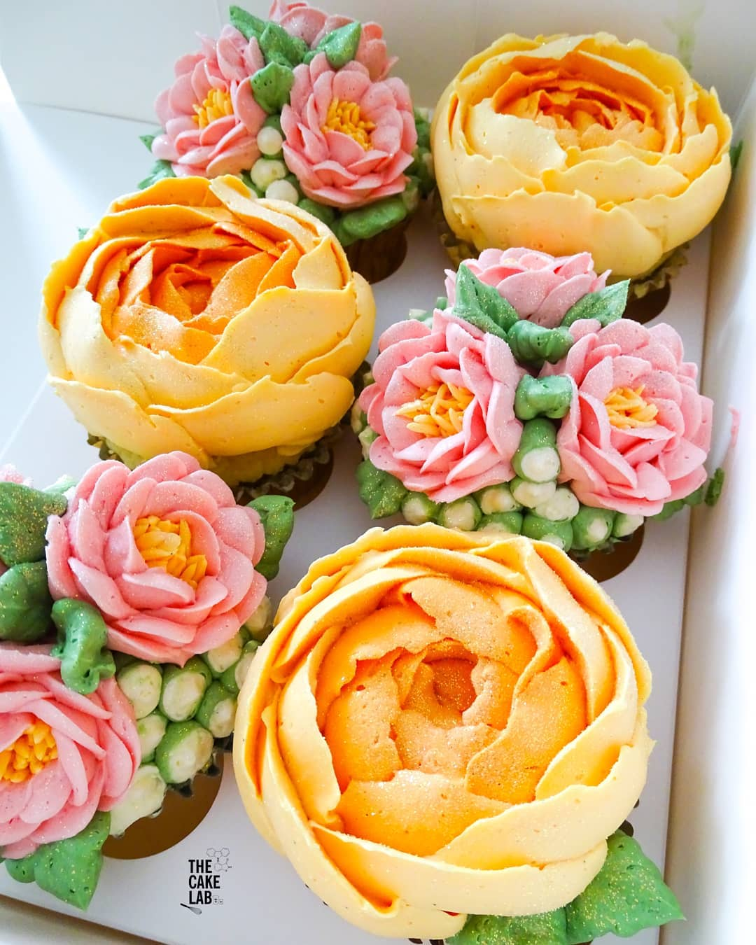 Pink and Apricot Florals