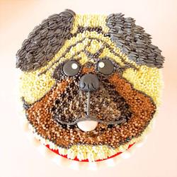 Pug Cookie Dough Cake