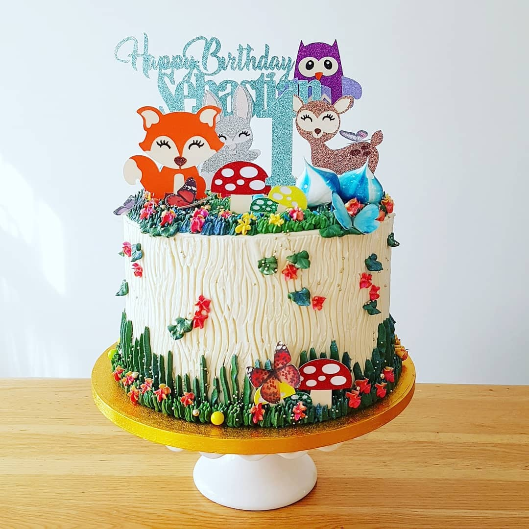 Forest Animal themed cake
