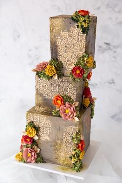 Square Concrete Wedding Cake