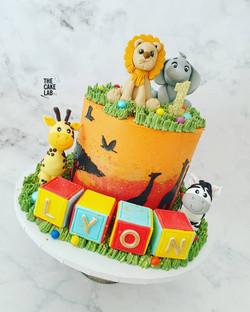 Baby Safari Cake