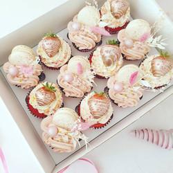 Pink & Rose Gold Cupcakes