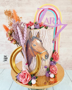 Horse and Rainbow Cake