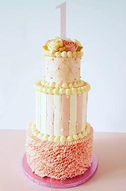 1st Birthday Tiered Cake